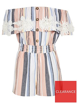 river-island-girls-crochet-bardot-playsuit-pink-stripe