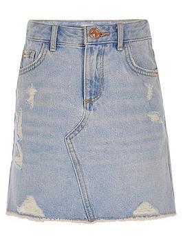 river-island-girls-ripped-denim-skirt-blue