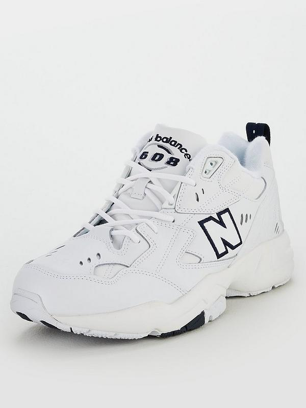 608 Leather Trainer White