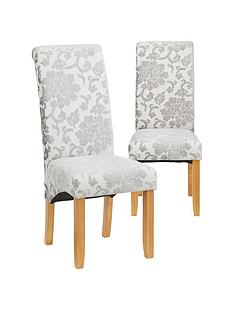 pair-of-oxford-fabric-dining-chairs--silver