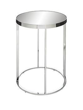 Gabriella Mirrored Lamp Table - Chrome