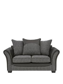 austin-fabric-and-faux-snakeskin-2-seater-scatter-back-sofa