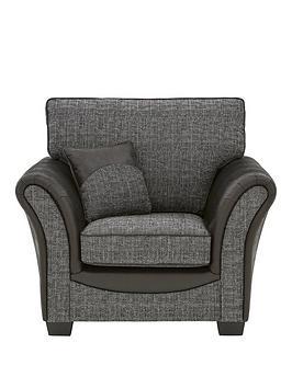 austin-fabric-and-faux-snakeskin-armchair