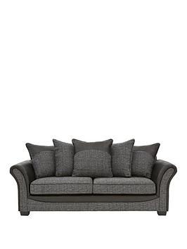 austinnbspfabric-and-faux-snakeskin-3-seater-scatter-back-sofa