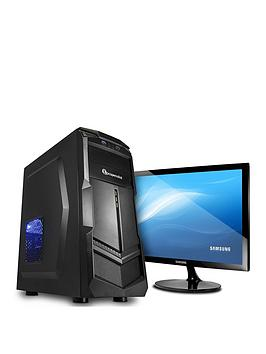 Pc Specialist Fusion Core Amd Athlon 200Ge, 8Gb Ram, 3Tb Hard Drive, Integrated Vega Graphics Gaming Desktop Pc (Black) + Samsung Monitor