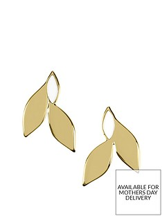 sara-miller-sara-miller-gold-and-white-enamel-leaf-stud-earrings