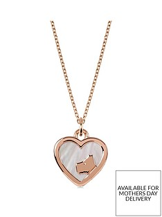 radley-radley-18k-rose-gold-plated-sterling-silver-and-mother-of-pearl-heart-dog-pendant-ladies-necklace