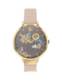 sara-miller-sara-miller-chelsea-grey-and-gold-detail-34mm-dial-nude-leather-strap-ladies-watch