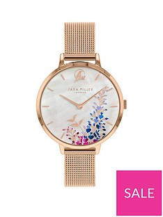 sara-miller-sara-miller-wisteria-mother-of-pearl-and-rose-gold-detail-34mm-dial-rose-gold-stainless-steel-mesh-strap-ladies-watch