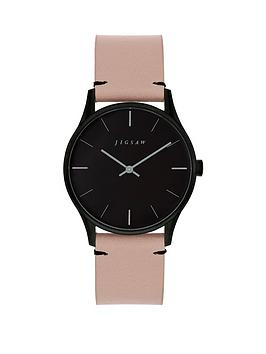 jigsaw-jigsaw-black-and-grey-detail-dial-pink-leather-strap-ladies-watch