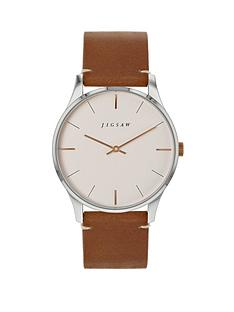 jigsaw-jigsaw-white-and-rose-gold-detail-dial-brown-leather-strap-ladies-watch
