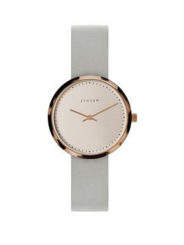 jigsaw-jigsaw-round-white-dial-with-tortoise-shell-bezel-and-grey-leather-strap-ladies-watch