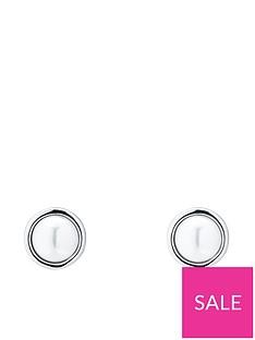 karen-millen-karen-millen-logo-pearl-small-stud-earrings