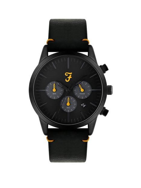farah-black-and-yellow-detail-chronograph-dial-black-leather-strap-mens-watch