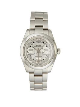 rolex-rolex-pre-owned-oyster-perpetual-silver-midsize-dial-stainless-steel-bracelet-watch-ref-177200