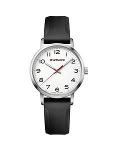wenger-wenger-avenue-white-35mm-dial-black-silicone-strap-swiss-made-mens-watch