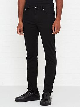 versace-collection-medusa-logo-slim-fit-jeans-black