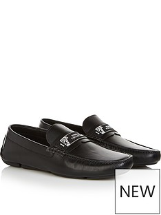 versace-collection-mens-logo-detail-loafers-black