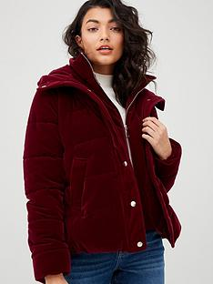 v-by-very-short-velvet-coat-plumnbsp