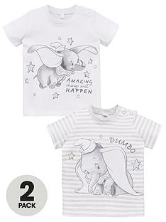 tatty-teddy-baby-unisex-dumbo-2-pack-t-shirts-whitegrey