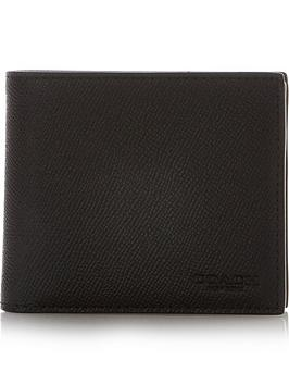 coach-leather-wallet-and-credit-card-holder-3-in-1-black