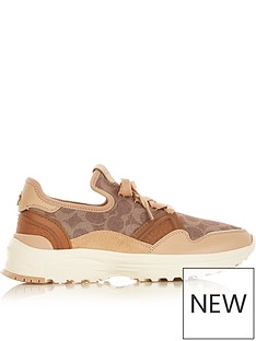 coach-c150-signature-neoprene-runner-trainers-tan