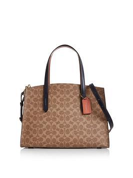 coach-charlie-signature-coated-canvas-colour-block-carryall-shoulder-bag-tan
