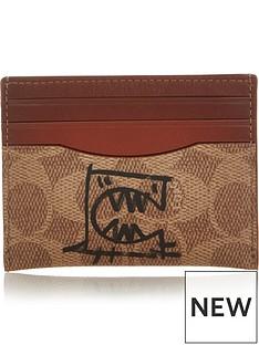 coach-1941-signature-rexy-shanghainbspcard-holder-tan