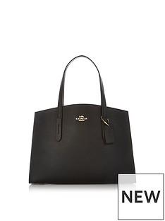 coach-charlie-pebble-leather-shoulder-bag-black