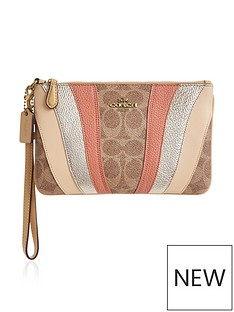 coach-signature-print-wave-patchwork-coated-canvasnbspwristlet-tan