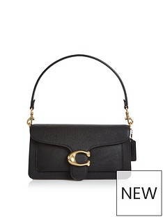 coach-tabby-c-logo-shoulder-bag-black