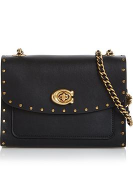 coach-parker-18-bordernbsprivets-cross-body-bag-black