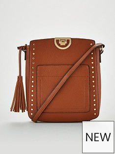 v-by-very-pansy-stud-detail-messenger-bag