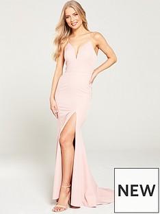 jarlo-anya-cami-strap-maxi-with-thigh-split-pink