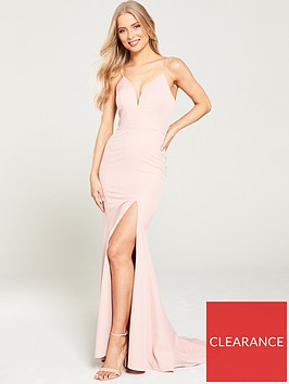 jarlo-anya-cami-strap-maxi-with-thigh-split-pink