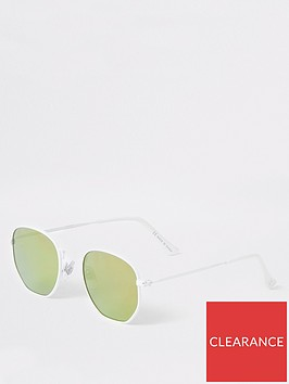 river-island-boys-hexagon-retro-sunglasses-white