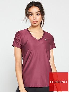 under-armour-techtrade-short-sleeve-v-neck-purplenbsp