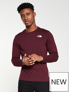 the-north-face-long-sleeve-easy-t-shirt-red