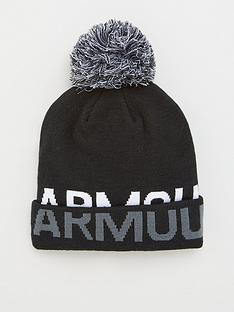 under-armour-graphic-pom-beanie-blackwhitenbsp