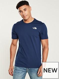 the-north-face-short-sleevenbspredbox-t-shirt-blue