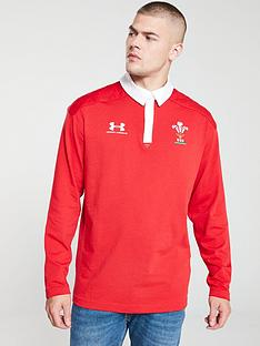 under-armour-wales-wru-long-sleeve-polo-red