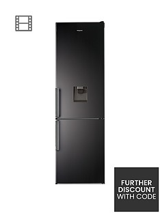 Hotpoint Day1 H7T911AKSHAQUA 60cm Wide, Total No Frost Fridge Freezer with Water Dispenser - Black Best Price, Cheapest Prices