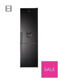 Hotpoint Day1H7T911AKSHAQUA60cmWide, Total No Frost Fridge Freezer with Water Dispenser - Black