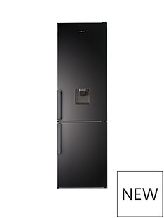 Hotpoint H7T911AKSHAQUA 60cm Wide, Total No Frost Fridge Freezer with Water Dispenser - Black