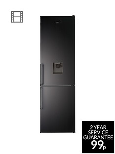 hotpoint-h7t911akshaquanbsp60cmnbspwide-total-no-frost-fridge-freezer-with-water-dispenser-black