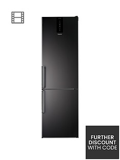 Hotpoint Day1 H9T921TKSH 60cm Wide, Total No Frost Fridge Freezer - Black Best Price, Cheapest Prices