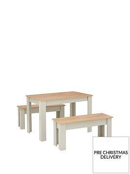 cornwall-120-cm-dining-table-and-2-benches-greyoak-effect