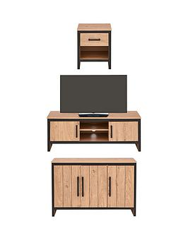 Boston 3 Piece Package - Tv Unit, Sideboard And Lamp Table