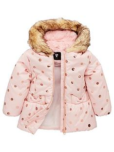 v-by-very-girls-rose-gold-spot-coat-pink