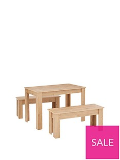 cornwall-120-cm-dining-table-and-2-benches-oak-effect